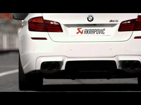BMW M5 (F10) with Akrapovic Evolution exhaust system