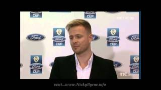 Nicky Byrne at the FAI Ford Cup draw 2013 Clip