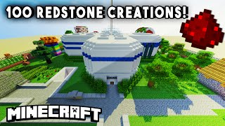 INCREDIBLE REDSTONE HOUSE (w/ 100+ Redstone Mechanisms/Redstone Creations) - PART 1