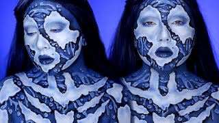 """Welcome to my final installment in my Elemental body paint series! The last of the four is water, and in this cosplay makeup tutorial I show you how to use minimal products to create realistic (ish) water droplets!Hope you guys enjoyed it, and please subscribe if you haven't already! Share along if you like it, it helps so much! FOLLOW ME:Instagram: @jordanhanzhttp://www.instagram.com/jordanhanzTwitter: @jordanhanzhttp://www.twitter.com/jordanhanzSnapchat: jordan_hanzFacebook: Jordan Hanzhttps://www.facebook.com/pages/Jordan-Hanz/295184987353909?fref=tsTwitch TV: Jordanhanzhttp://www.twitch.tv/jordanhanzPeriscope: @jordanhanz (for LIVE streaming)________________________________________//PRODUCTS USED:Mehron Makeup Parsdise PaintsMake Up For Ever Clown White Grease PaintNYX Vivid Brights Blue Creme Colour NYX Primal Colors Eyeshadows in Hot Black & BlueCODES/LINKS:// MAKEUP GEEK COSMETICShttps://www.makeupgeek.com/store/eye-products/eyeshadows/makeup-geek-eyeshadows.html?acc=7f100b7b36092fb9b06dfb4fac360931// MORPHE BRUSHESUse code """"JORDANHANZ"""" for 10% off site wide!http://www.morphebrushes.com// SIGMA BEAUTYUSE code """"JORDANHANZ"""" for 10% off site wide!http://sigma-beauty.7eer.net/c/134412/146780/2835?u=http%3A%2F%2Fwww.sigmabeauty.com%2Fe20-short-shader%2Fp%2FE20PARNT// GERARD COSMETICSUse code """"Jordan"""" for 25% off site wide!http://www.gerardcosmetics.com//NUBOUNSOM 3D RUSSIAN (LASHES)Use code """"jordanhanz: for 20% off site wide!http://nubounsom.com// MUSIC  SOUNDS:provided by Monstercat: a paid monthly no copyrights song servicehttp://www.monstercat.comIntro: Anywhere You Go ( The Remix) - NERVOBackground Music: Want You - OrbiterFTC: Some of these links are affiliate links which I make a small commission percentage through. You don't have to use these links, but if you would like to support me in that way you're welcome to! I only promote products that I one hundred percent believe in and adore, I got chu guys. ;)"""