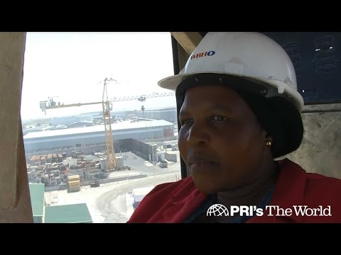 Rising above the odds, this black South African woman has found her calling operating a crane