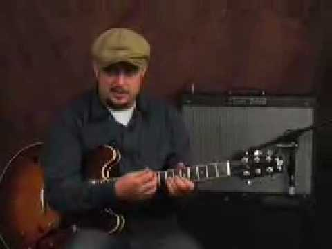 Electric lead guitar easy rock licks and riffs lesson
