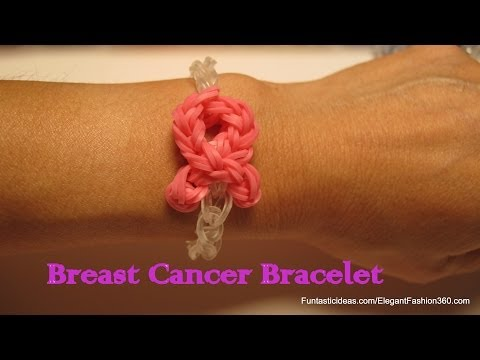 Updated Pink Ribbon Bracelet – How to Rainbow Loom