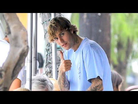 Justin Bieber Steps Out For Lunch After Announcing Collab With Crocs Footwear
