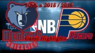 Memphis Grizzlies vs Indiana Pacers - 06.10. Game Highlights - NBA PRE-SEASON 2018-19