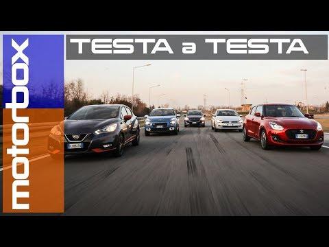 Compatte 2018 a confronto | Citroen C3, Ford Fiesta, Nissan Micra, Suzuki Swift e Volkswagen Polo