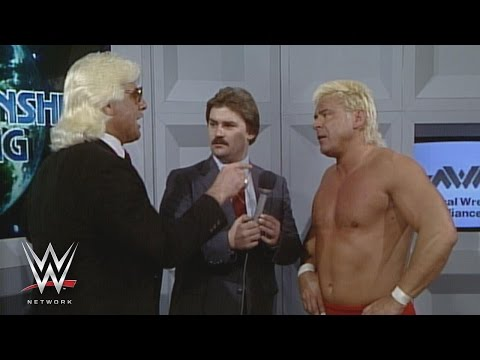 WWE Network: Ron Garvin issues a challenge to Ric Flair: NWA Wrestling, Dec. 21, 1985 видео