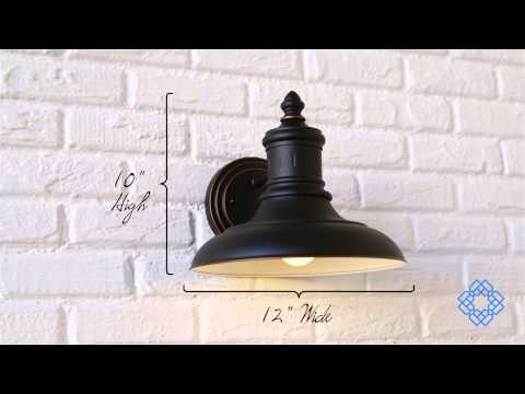 Video for Monterey Oil Rubbed Bronze Outdoor Dark Sky Downlight Wall Mount
