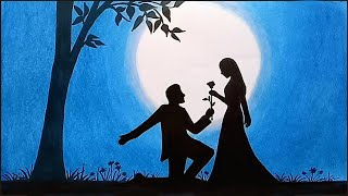 Video How to draw scenery of moonlit night with romantic love step by step MP3, 3GP, MP4, WEBM, AVI, FLV Agustus 2018