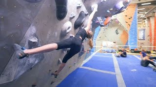Norea Is Trying Her Project And My Project by Eric Karlsson Bouldering