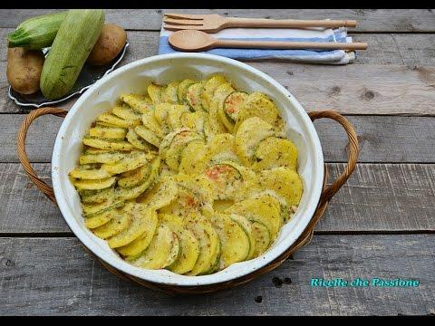 patate e zucchine gratinate al forno - ricetta