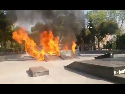 Police Burn Down Skatepark