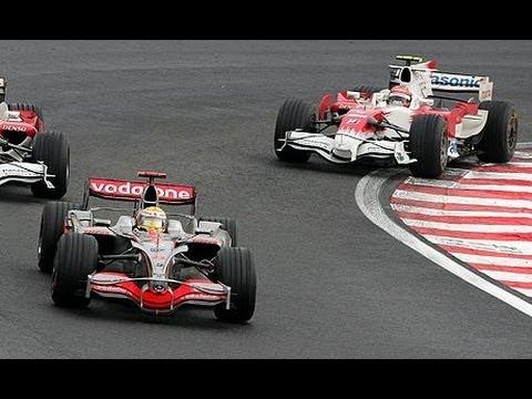 ultimi giri gp brasile 2008: hamilton campione del mondo f1