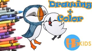 How To Draw Oona & Baba from Puffin Rock Step By Step Easy - Kids Drawing Tutorial (Art & Drawing For Kids) Visit our website! - http://www.h5kids.com/ How t...