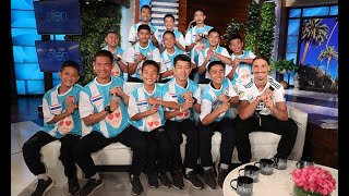 Thai cave boys hit the big time! Team and their coach appear on Ellen