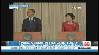 President Obama Prime Minister Yingluck Shinawatra Bangkok Thailand (November 18, 2012) [2/4]