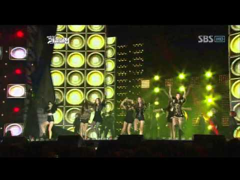 Gain Jiyeon  Hyuna Sunhwa Fei G.na - Run the world @SBS MUSIC FESTIVAL 가요대전 20111229