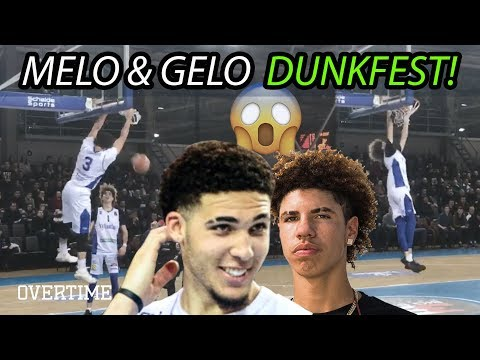 LaMelo & Gelo Ball Dunk EVERYTHING & Drop 60 In Third Lithuanian Game! FULL HIGHLIGHTS! (видео)