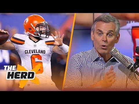 Colin Cowherd on Baker's debut against the New York Giants, Andrew Luck's return   NFL   THE HERD