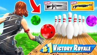 BOWLING for WEAPONS *NEW* Game Mode in Fortnite Battle Royale