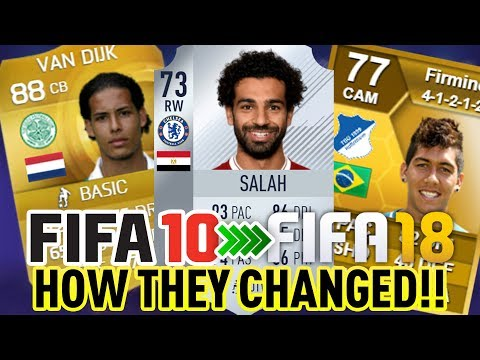 FIFA 10-18 - LIVERPOOL CHAMPIONS LEAGUE FINALISTS, HOW THEY CHANGED IN FUT!