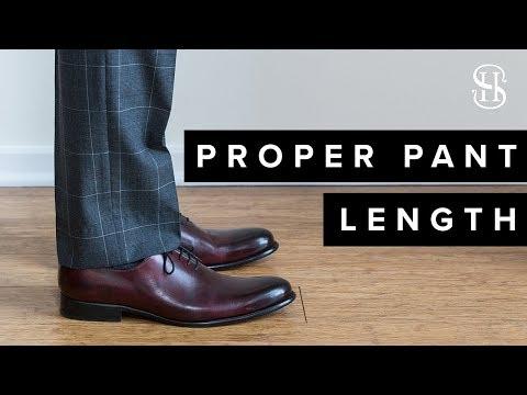 Proper Pant Length | A Guide To Men's Pant Breaks