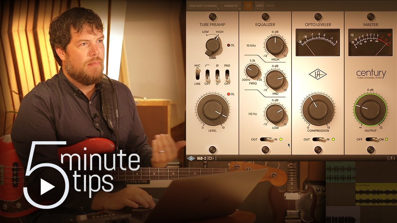 5-Min UAD Tips: Recording Electric Guitar & Bass with Century Tube Channel Strip