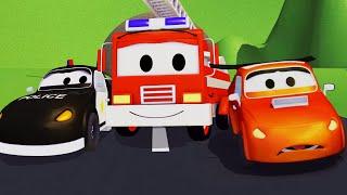 Video La Super Patrulla con el malo Coche de Carreras en Auto City   Autos y camiones dibujos animados MP3, 3GP, MP4, WEBM, AVI, FLV Juli 2018