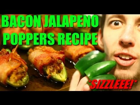 EXTREME Jalapeno Poppers Wrapped With Bacon Recipe