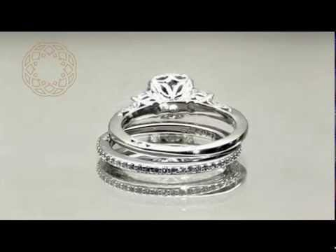 Tacori Platinum Bridal Set  1.73ctw w/ 0.88ct VS2 F EGL USA Center Diamond