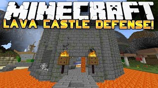 Minecraft: EPIC LAVA CASTLE DEFENCE! - w/Preston&Woofless