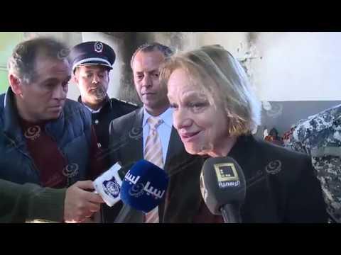 سفيرة الاتحاد الأوروبي تزور مركز إيواء الهجرة غير الشرعية بطريق المطار