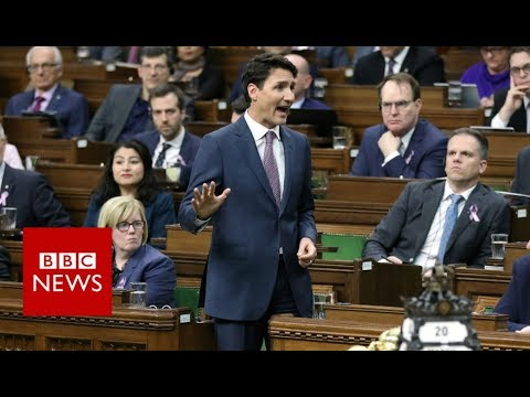 Trudeau sorry for eating chocolate in vote - BBC News