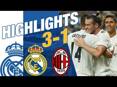 Real Madrid Vs AC Milan 3-1 EXTENDED HIGHLIGHTS & GOALS