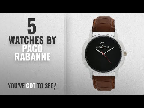 Top 10 Paco Rabanne Watches [2018]: INVICTUS ASTRAC-NG309 VANS BLACK DIAL BROWN LEATHER ANALOGUE