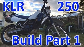 4. KLR 250 Build: Part 1 (cleaning her up!)