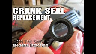 """Crank Seal used is B&S part #391483sUSA viewers buy here;https://discountonlineparts.com/search.php?s=391483s&x=0&y=0Canadian viewers contact me directly at donyboy73@yahoo.com to purchase this seal from me.Watch """"HOW TO REMOVE A BLADE ADAPTER"""" here;https://www.youtube.com/watch?v=7caxtmxZ2ocWatch """" HOW TO FIX A HYDRO-LOCKED LAWNMOWER"""" here;https://www.youtube.com/watch?v=L8CovhYJ9vsHelp me make videos!http://patreon.com/donyboy73Follow me on Facebook; https://www.facebook.com/pages/Donybo...Twitter;https://twitter.com/donyboy73Instagram: http://instagram.com/donyboy73/GOOGLE+ https://plus.google.com/u/0/b/1016213...Due to factors beyond the control of DONYBOY73 """"The Small Engine Doctor"""", it cannot guarantee against unauthorized modifications of this information, or improper use of this information. DONYBOY73 """"The Small Engine Doctor"""" assumes no liability for property damage or injury incurred as a result of any of the information contained in this video. DONYBOY73 """"The Small Engine Doctor"""" recommends safe practices when working with power tools, hand tools, lifting tools, jack stands, electrical equipment, blunt instruments, chemicals, lubricants, or any other tools or equipment seen or implied in this video. Due to factors beyond the control of DONYBOY73 """"The Small Engine Doctor"""", no information contained in this video shall create any express or implied warranty or guarantee of any particular result. Any injury, damage or loss that may result from improper use of these tools, equipment, or the information contained in this video is the sole responsibility of the user and not DONYBOY73 """"The Small Engine Doctor"""".#DIY"""