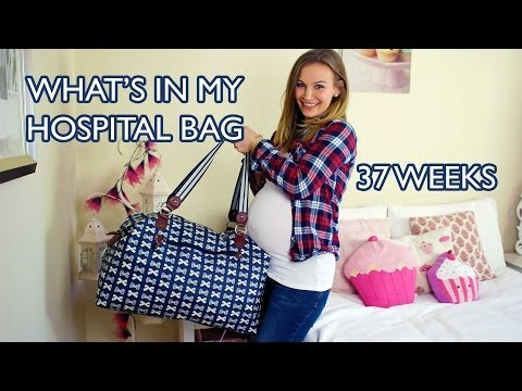 What's In My Hospital Bag – 37 Weeks Pregnant!