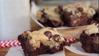 How to Make Chocolate Chip Cookie Brownies| Easy Homemade Recipe