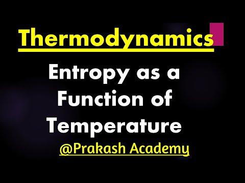 Physikalische Chemie: Thermodynamik-Entropy als Funktion der Temp-Konzepte