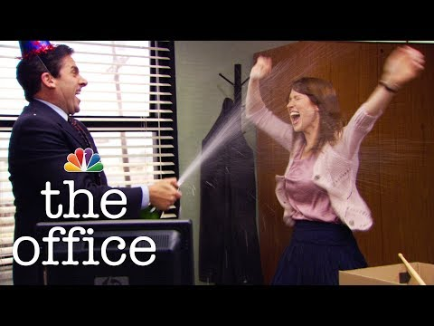 Michael Celebrates Holly Being Single - The Office