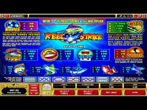 Casino Game:  Reel Strike Video Slot Machine at 7Sultans Caasino