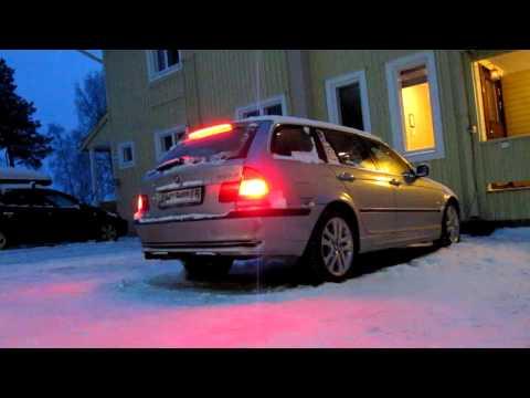 BMW E46 330d -29C cold start, Finland