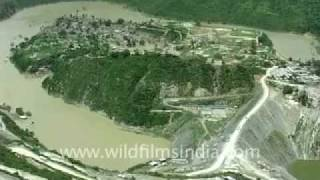 Tehri India  city photo : Tehri Dam in Uttarakhand, with submerged Tehri town