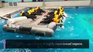 Water Survival Training At Alroz Aviation Air Hostess Training Instititute