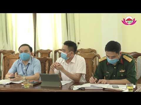 Quỳ Hợp tham gia giao ban trực tuyến để bàn về các giải pháp chỉ đạo phòng, chống dịch bệnh Covid19