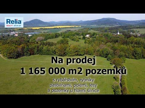 Video Rozlehlé pozemky 120 ha nedaleko zámku Lemberk, rybníky, louky, lesy a sádky s prodejnou