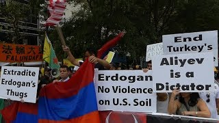 Protest in NY against Erdogan and Aliyev Dictatorships