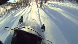 7. Polaris RMK 600  backcountry riding!