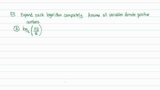 Intermediate Algebra - Logarithms: Properties of Logarithms